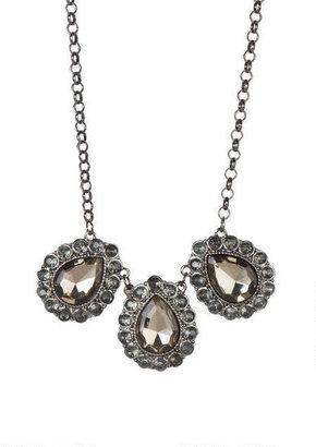 Delia's Pewter 3 Tear Drop Necklace