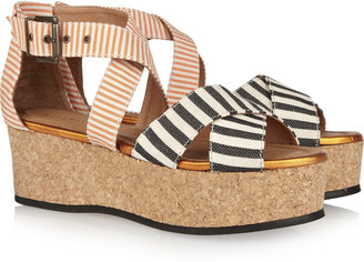 Mini Market Minimarket Mirage canvas wedge sandals