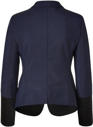 Jil Sander Midnight Blue/Black Wool-Mohair Blazer
