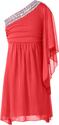 Ruby Rox Girls Dress, Girls One-Shoulder Sleeve Dress