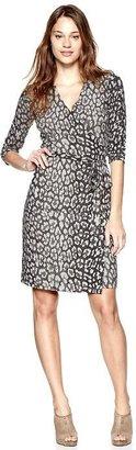 Gap Leopard wrap dress