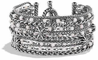 David Yurman Starburst Chain Bracelet with Pearls