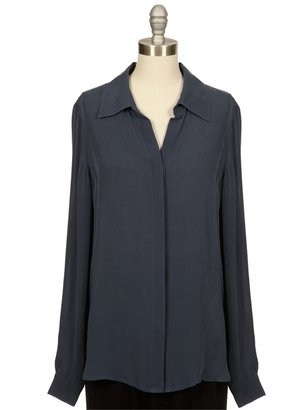 L'Agence Silk Button Down Blouse