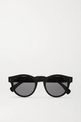 Illesteva Leonard Round-frame Acetate Sunglasses - Black