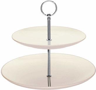 Noritake Dinnerware, Colorwave White 2 Tier Hostess Tray