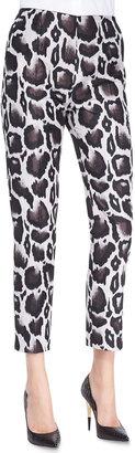 Paule Ka Macro Leopard Jacquard Pants, Brown/Multi