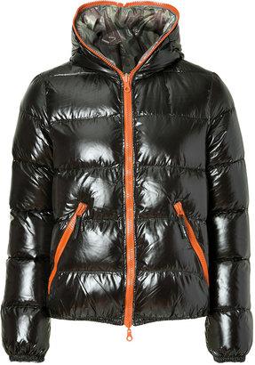 Duvetica Black/Camouflage Reversible Down Jacket