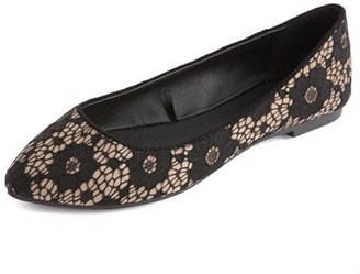 Charlotte Russe Lace Pointy Toe Ballet Flat