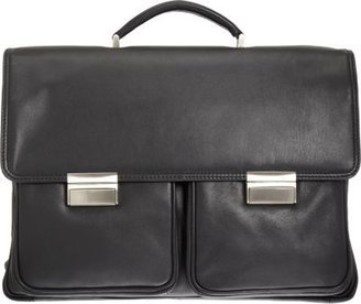 Barneys New York Dual Lock Two-Gusset Briefcase