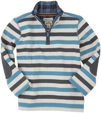 Hatley Mock Neck Sweater (Toddler/Kid) - Charcoa/Melange-4