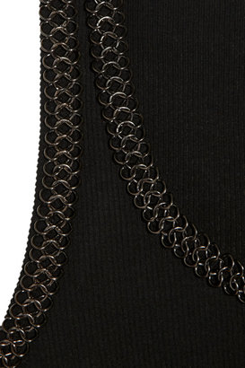 Faith Connexion Chain-trimmed ribbed stretch-jersey tank