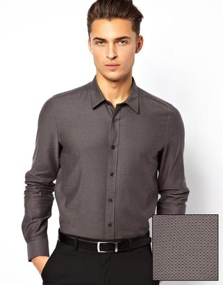 Asos Smart Shirt In Long Sleeve With All Over Design