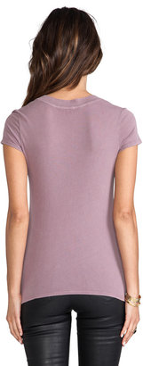 James Perse Short Sleeve Relaxed Casual V