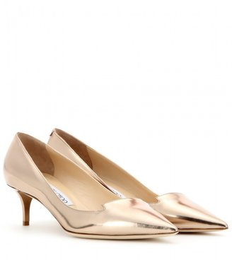 Jimmy Choo Allure mirrored-leather pumps