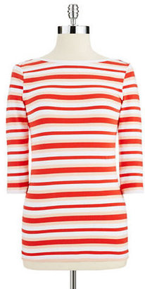 French Connection Three-quarter Length Sleeved Striped Shirt