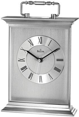 Bulova Silver-Tone Tabletop Clock B7472
