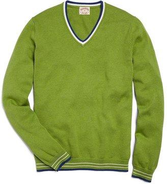 Brooks Brothers Supima® Tipped V-Neck Sweater