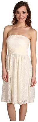 Vince Camuto Strapless Lace Dress VC2A1189 (Ivory) - Apparel