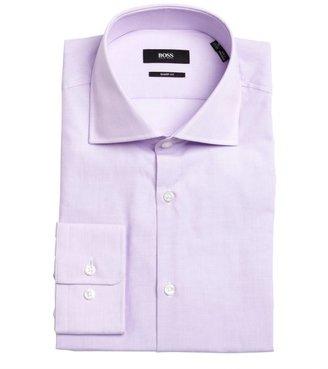 HUGO BOSS lavander cotton point collar dress shirt