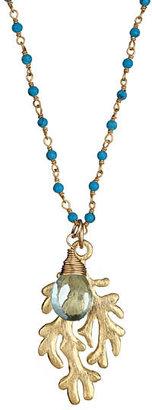 Urban Posh Luisa Aqua Quartz and Turquoise Necklace
