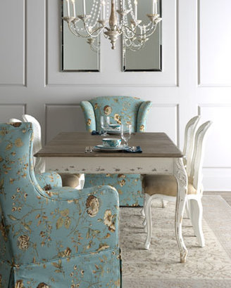 """Horchow Shabby Chic """"Kendall"""" Dining Table, """"Tana"""" Skirted Chair, & """"LaDonna"""" Dining Chair"""