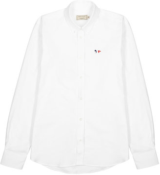 MAISON KITSUNÉ White Cotton Oxford Shirt