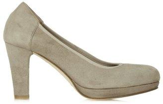 Calpierre Taupe Suede Low Platform Court Shoe