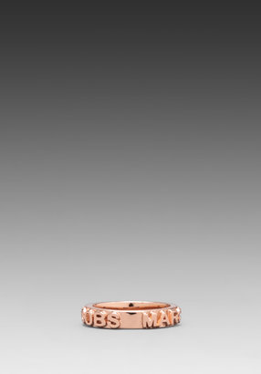 Marc by Marc Jacobs Letterpress Ring