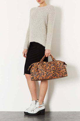 Topshop Leopard Leather Luggage Bag