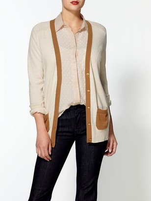 Juicy Couture Long Sleeve V-Neck Cardigan With Contrast