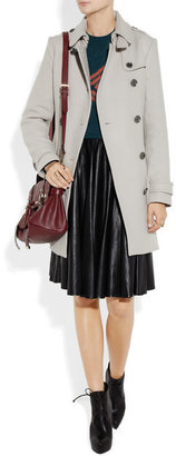 Burberry Mid-length wool-blend trench coat