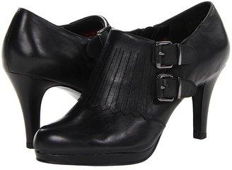 Anne Klein Warrena (Black Leather) - Footwear
