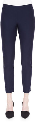 Eileen Fisher Petite Washable Stretch Crepe Slim Ankle Pants