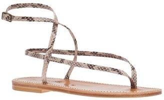K. Jacques Snake skin sandals