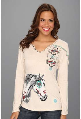 Double D Ranchwear - War Pony Tee (White) - Apparel