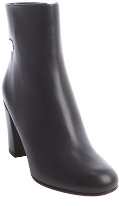 Givenchy Black Leather Bar Detail Ankle Boots