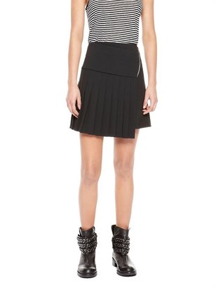 DKNY Asymmetrical Zip Mini Skirt
