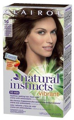Clairol Natural Instincts Vibrant Permanent Hair Color Medium Golden Brown