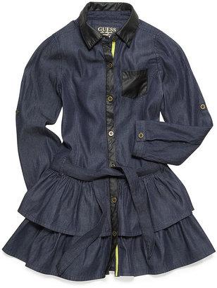 GUESS Girls Dress, Girls Belted Flounce Dress