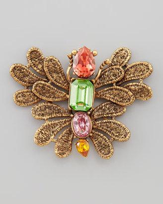 Oscar de la Renta Cast Lace Butterfly Brooch