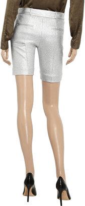Diane von Furstenberg New Boymuda metallic tweed shorts