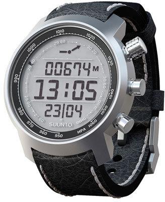 Suunto 'Terra' Leather Strap Watch, 51mm