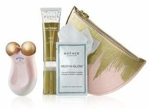 NuFace Four-Piece Rose Goldtone Mini Express Skin Toning Device Set