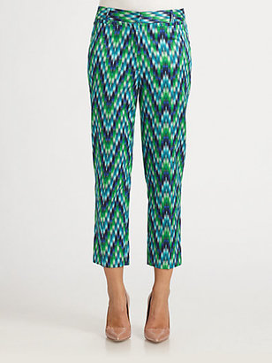 Milly Annie Chevron Ankle Pants