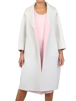 Jil Sander Two Tone Soft Cashmere Melton Coat