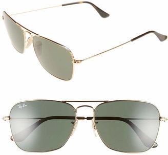 Ray-Ban Caravan 58mm Aviator Sunglasses