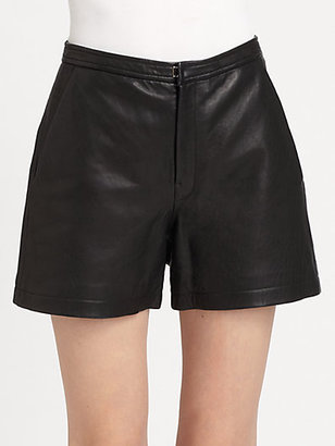 BLK DNM Leather High-Waisted Shorts