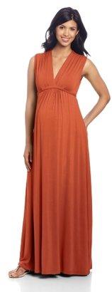 Olian Women's Maternity Sleeveless Maxi Dress
