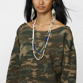 Denim & Supply Ralph Lauren Camo Buttoned-Back Sweatshirt