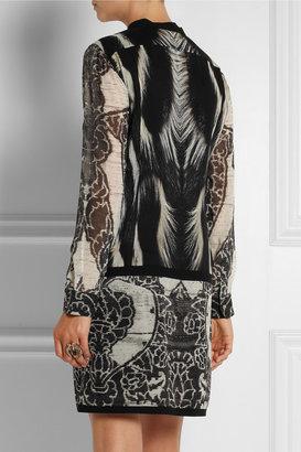 Roberto Cavalli Printed silk-georgette dress
